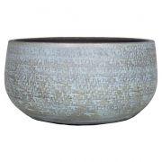 Maceta de cerámica NAVID, grano, azul claro-blanco, 14cm, Ø29cm